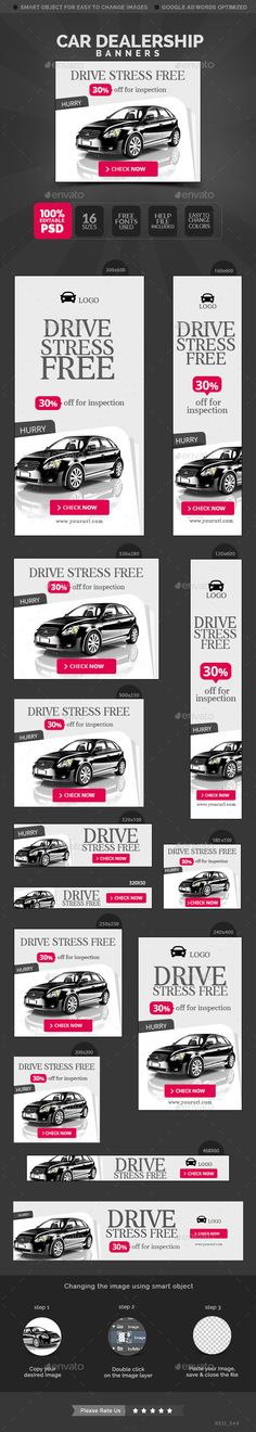 Car Dealership Banners Template #design Download: http://graphicriver.net/item/car-dealership-banners/12594326?ref=ksioks