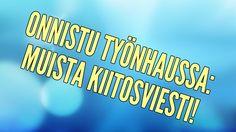 Video: Jevgeni Särki - Onnistu työnhaussa: Muista kiitosviesti!