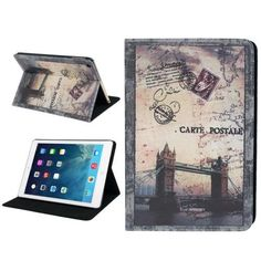 For+iPad+Air+Postcard+Style+London+Bridge++Leather+Case+with+Holder+&+Sleep+/+Wake-up+Function
