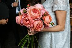 Pink summer rose bouquet. Photography by Nick Tucker + Joanna Brown
