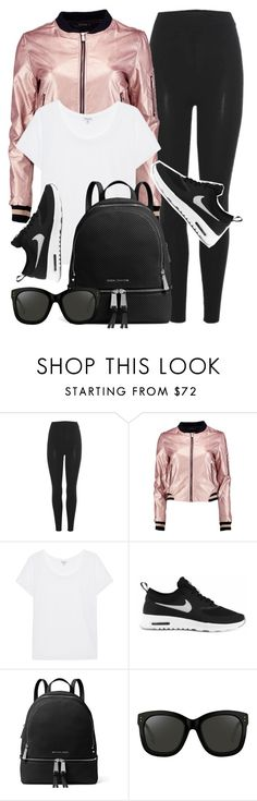 """""""Active Day"""" by monmondefou ❤ liked on Polyvore featuring adidas Originals, Boohoo, Splendid, NIKE, MICHAEL Michael Kors, Linda Farrow, sporty and bomber"""