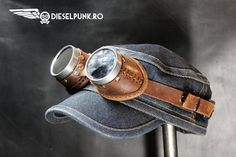 STEAMPUNK GOGGLES leather hand made  Halloween apocalypse
