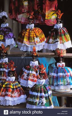 Stock Photo - Souvenir Dolls at Tourist Stall in Fort De France Martinique Jamaica Culture, Caribbean Culture, Caribbean Art, Ag Doll Crafts, Photo Souvenir, African Dolls, Black Girl Art, Afro Art, Gowns Of Elegance