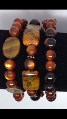 Natural Stone Bracelet Set by Graceandliz on Etsy, $15.00