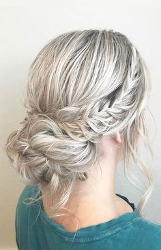 French crown braid with updo wedding hairstyle inspiration #promhair #braidstyles #braidideas #promhairstylesupdos #braidpics #braidphotos #weddinghairstyles #hairoftheday #braidtrends