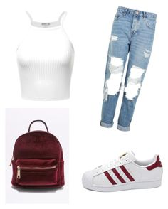 """New_post"" by emra-cehajic ❤ liked on Polyvore featuring Topshop, adidas and polyvorefashion"