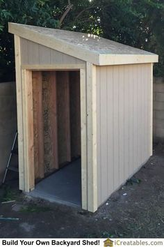 Lean To shed plans with roof sheeting installed. The fascia trim is installed after the roof sheeting so it can be flush with the roof deck.