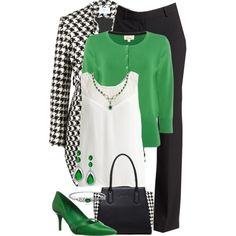 Houndstooth Coat and Bag by jennifernoriega on Polyvore featuring moda, Object Collectors Item, Linea, Jovonna, Theory, Nine West, SUSU and Bling Jewelry