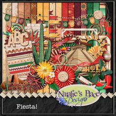 Hola!!! This kit was inspired by our neighbors south of the border.... whether your scrapping your trip to Mexico, Epcot or maybe just enjoying some tacos and burritos, this kit is for you!