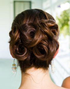 Pin curls for a sophisticated bridal updo