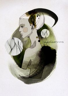 Capricorn: Zodiac Signs by Ekaterina Koroleva, via Behance