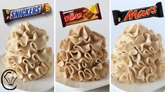 Condensed Milk Buttercream Candy Bar COMPILATION Rolo Mars Bar Snickers SILKY SMOOTH No Icing Sugar - YouTube Cream Cheese Buttercream Frosting, Coffee Buttercream, Cake Frosting Recipe, Frosting Recipes, Icing, Buttercream Candy Recipe, Chocolate Buttercream, Cupcake Cakes, Dessert
