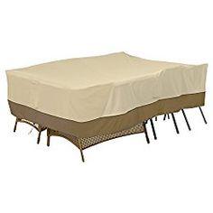 Classic Accessories 55-467-011501-00 Veranda 100″ x 70″ General Purpose Patio Furniture Cover, Large