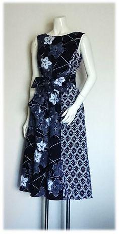 Kimono Dress, Peasant Blouse, I Dress, African Print Fashion, Asian Fashion, Fashion Prints, Sewing Techniques, Handicraft, Everyday Fashion