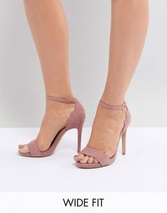 5fa63dc0255 Shop New Look Wide Fit Scallop Back High Heeled Sandal at ASOS. Discover  fashion online