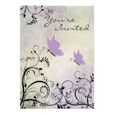 Personalized Butterfly Baby Shower Invitations for Girls