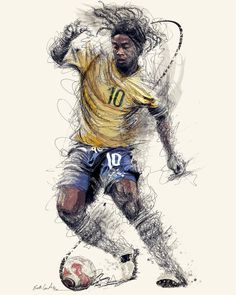 Stefan Feulner the sport wizard scroll through the images for other sport wizards Art Football, Brazil Football Team, Ronaldo Football, Soccer Art, Best Football Players, Soccer Players, Soccer Poster, Cr7 Messi, Messi Soccer