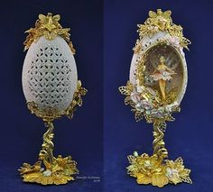 Egg Crafts, Diy And Crafts, Types Of Eggs, Egg Shell Art, Carved Eggs, Faberge Eggs, Egg Art, Egg Decorating, Egg Shells