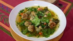 VERY GOOD-Valerie Bertinelli lightens up Italian wedding soup with low-carb meatballs Soup Appetizers Soup Appetizers dinners carb Soup Appetizers Appetizers with french onion Low Carb Recipes, Soup Recipes, Healthy Recipes, Healthy Dinners, Quick Recipes, Atkins Recipes, Gf Recipes, Weeknight Dinners, Light Recipes