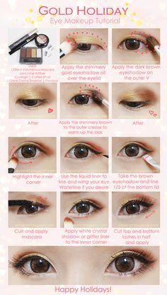 Gold Holiday Eye Makeup Tutorial