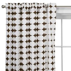Found it at AllModern - Reverse Dots Cotton Rod Pocket Curtain Single Panel Boys Bedroom Curtains, Kids Curtains, White Curtains, Drapes Curtains, Curtain Panels, Contemporary Curtains, Contemporary Sofa, Kitchen Window Treatments, Guest Room Office
