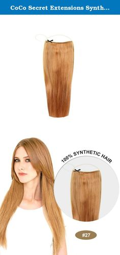 CoCo Secret Extensions Synthetic Hair Extensions Straight Strawberry Blonde (16 Inches). HOW-TO DIRECTIONS/INSTRUCTIONS 1.SLIP THE SYN-COCO EXTENSIONS HEADBAND OVER YOUR HEAD WITH THE EXTENSION AT THE BACK OF YOUR HEAD AND POSITION BAND AROUND THE TOP OF YOUR HEAD LIKE A HEADBAND. 2.PULL THE SIDES OF YOUR HAIR OUT IN FRONT OF THE HAIR BAND TO BLEND IN WITH YOUR EXTENSION. 3.STYLE USING A CURLING IRON OR FLAT IRON. 4.TAKE ONE FINAL LOOK AND YOU ARE READY TO GO. USING SOME OF THE MOST…