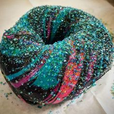 Colorfully Galactic Bagels - The Creators of the Rainbow Bagel Made a New Eye-Catching Baked Good