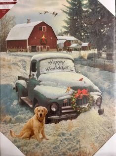 me ~ Happy Holidays Truck Lighted Canvas Christmas Red Truck, Christmas Scenes, Country Christmas, Winter Christmas, Vintage Christmas, Merry Christmas, Christmas Crafts, Country Holidays, Red Truck Decor