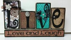 Live Love Laugh wood blocks by KimsKreationsSA on Etsy