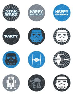Star Wars Cupcake Toppers Birthday Party Printable by aprintaffair