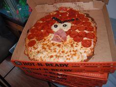 Angry Birds pizza from Cici's pizza