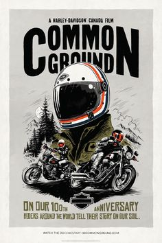 Harley-Davidson Paves New Ground with Online Docu-Series and Discovery Channel Special that Brings International Riders to Canada Motorcycle Posters, Motorcycle Art, Bike Art, Harley Davidson Canada, Event Poster Design, Graphic Design Inspiration, Vintage Posters, Retro, Logo Design