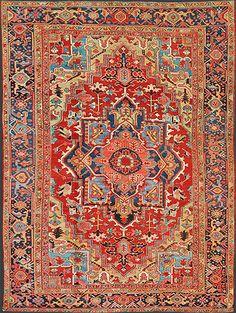 Persian Heriz Oriental Rug #45114