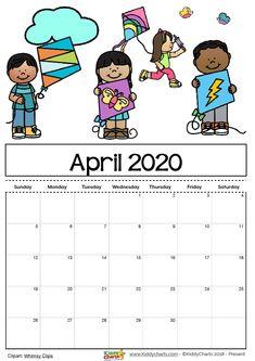 Printable April 2020 Calendar – Make A Daily Diet Plan – Printable Template