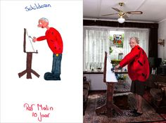 Turning childrens drawings into photographs