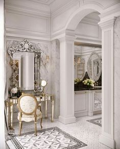 26 Ideas Home Design Grey Vanities Classic Interior, Home Interior Design, Interior Decorating, Design Interiors, Luxury Home Decor, Luxury Homes, Beautiful Bathrooms, Luxurious Bedrooms, Bathroom Interior
