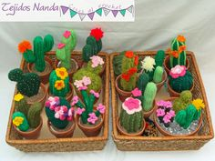 ❤~Crochet ~❤ cactus-tejidos-al-crochet. Crochet Home, Knit Or Crochet, Cute Crochet, Crochet Cactus, Crochet Flowers, Crochet Designs, Crochet Patterns, Cactus E Suculentas, Cactus Craft