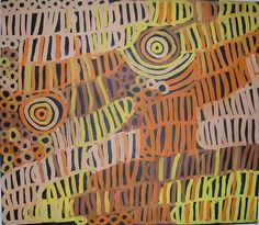 Amazing Australian Aboriginal Artwork by Minnie Pwerle / Awelye Atnwengerrp, Bush Melons & Roundels is the title of the painting. Aboriginal Painting, Aboriginal Artists, Words On Canvas, Sand Painting, Dining Nook, Green And Orange, Contemporary Design, Abstract, Perth