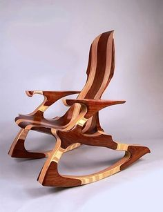 Wow what a beautiful rocking chair by Kevin DesPlanques