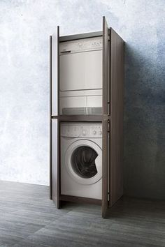 Badmeubel collectie met kast voor wasmachine en droger
