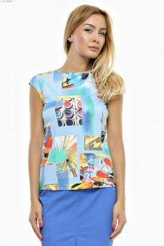 Bluza tricot imprimat cu decolteu arcuit si umar prelungit. Peplum, Tops, Women, Fashion, Tricot, Moda, Fashion Styles, Veil, Fashion Illustrations