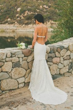 Saturday Style: Backless Wedding Dresses by Katie May
