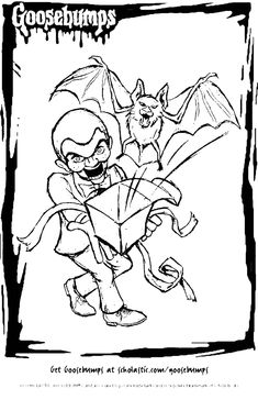 goosbumps coloring pages