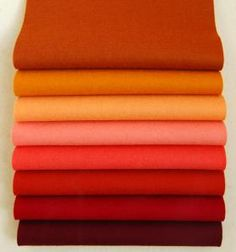 "Love the fall colors in this ""Spice"" bundle...why does wool felt have to be so pricey? $23 for eight 8"" X 12"" sheets."