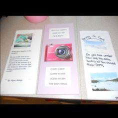 3rd grade biomes travel brochure. Such a cute idea!