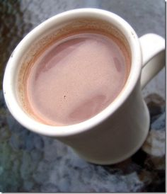 Cozy dark hot chocolate