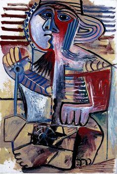 Pablo Picasso, Enfant ( Personnage à la pelle), 1971   on ArtStack #pablo-picasso #art