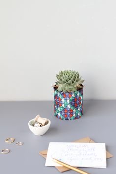 Upcycled Can Vase How-To