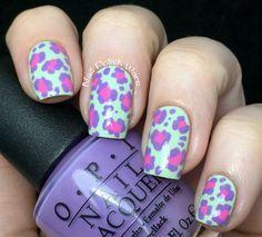 Spring into Leopard #opi #springmani  #nailart - Go to bellashoot.com or #beautyapp for beauty inspiration!