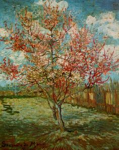 Pink Peach Tree in Blossom (Reminiscence of Mauve). Arles, March 1888. Oil on canvas, 73 x 59.5 cm Otterlo, Kröller-Müller Museum, Van Gogh